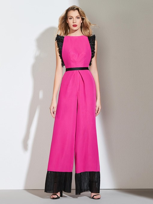Ericdress A Line Contrast Color Prom Jumpsuit
