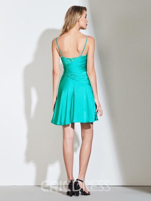 Ericdress Spagehetti Straps Short A Line Cocktail Dress