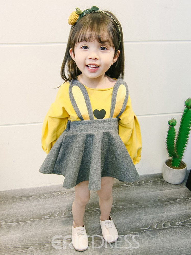 Ericdress Pleated Printed T Shirts & Skirt Baby Girl's Casual Outfits
