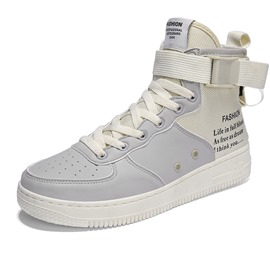 Ericdress Patchwork Letter Lace-Up Zipper High-Cut Men's Trainers