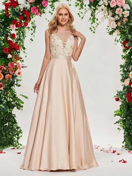Ericdress Scoop A Line Color Wedding Dress