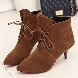 Ericdress Pointed Toe Kitten Heel Women's Ankle Boots