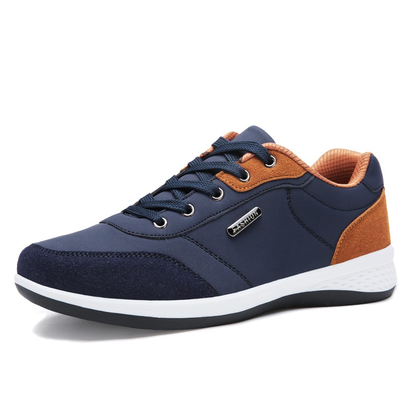 Ericdress Color Block Lace-Up Low-Cut Men's Trainers
