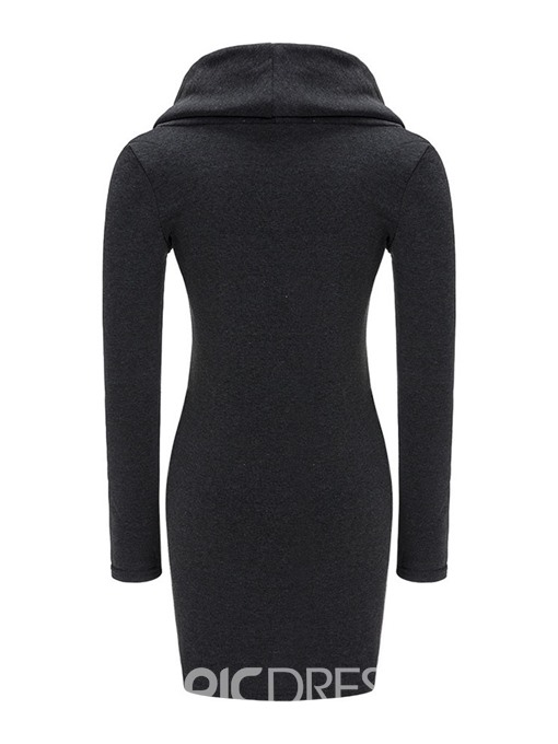 Ericdress Bodycon Plain Above Knee Women's Dress