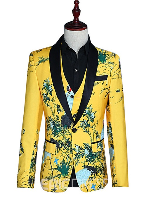Ericdress Chinese Style Printed Mens Costume Party Suits