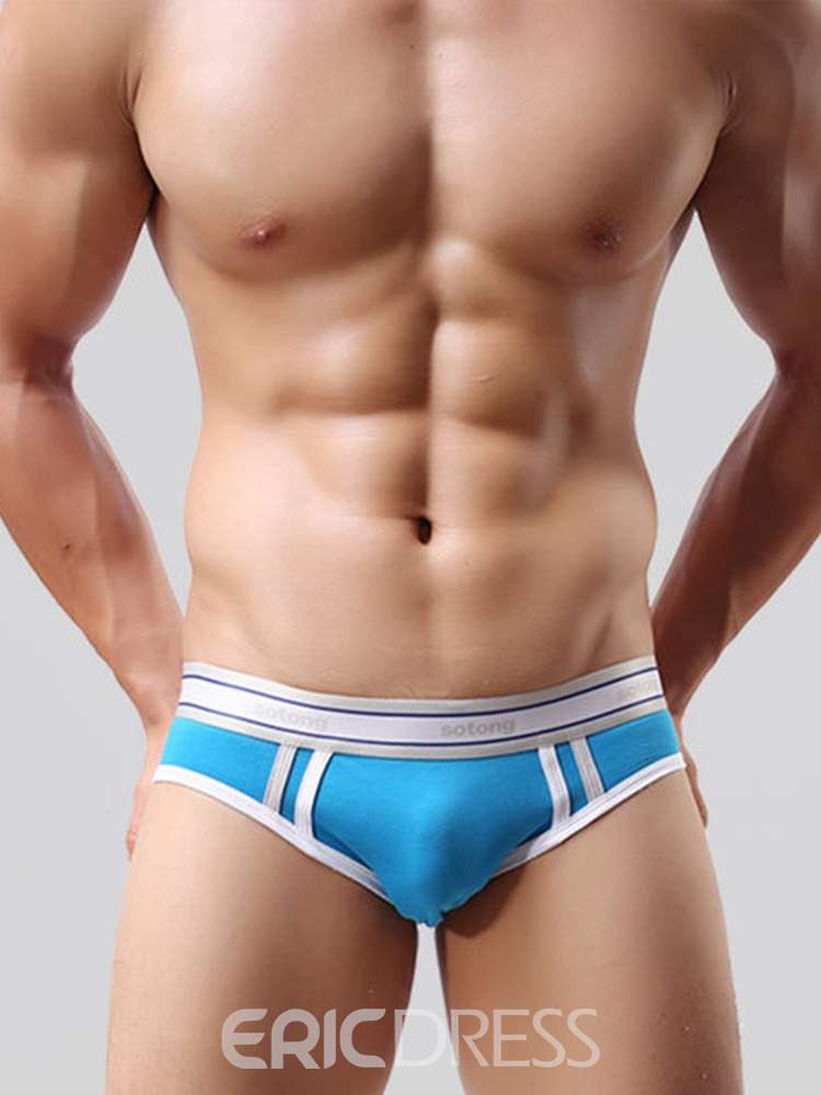 Ericdress Men's Underwear Stripe Breathable Low-Waist Briefs