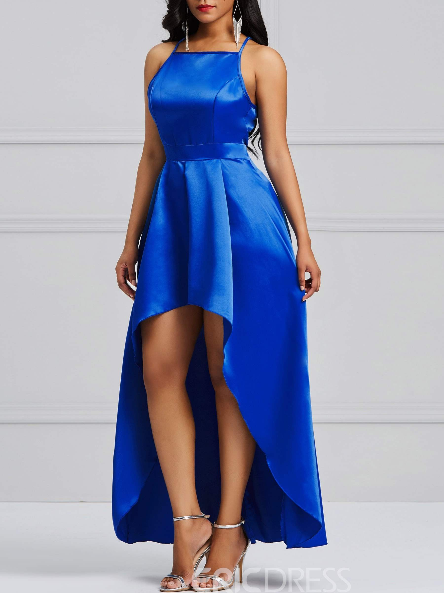 Ericdress Asymmetric Ankle-Length Sleeveless Women's Party Dress