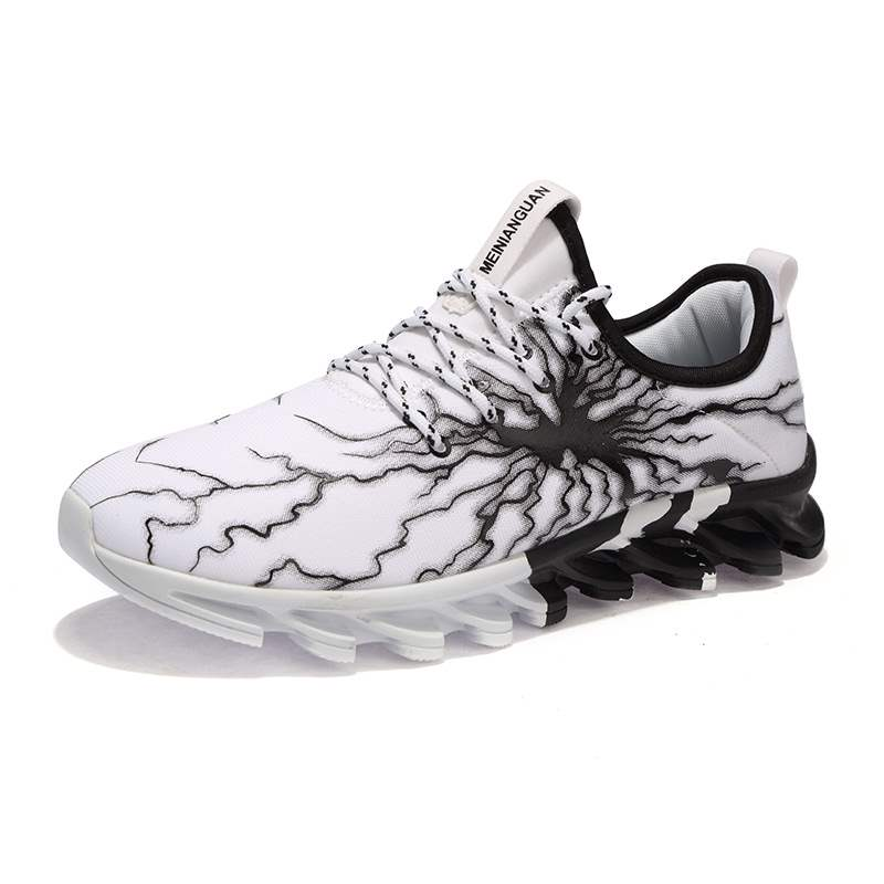 Ericdress Cloth Print Color Block Lace-Up Men's Sneakers
