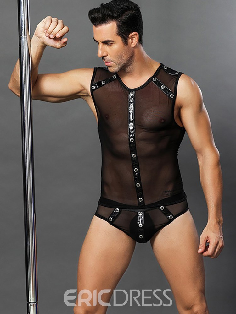 Ericdress Men's Sexy Lingerie See-Through Dancing Costume