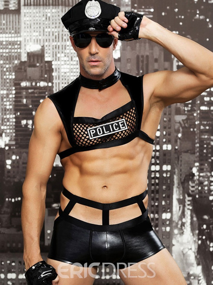 Ericdress Men's Sexy Lingerie Night club Sleeveless Military Costume