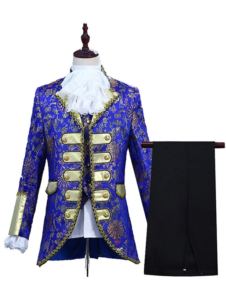 Ericdress Floral Printed Mens Costume Suits