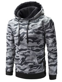 Ericdress Camouflage Printed Hooded Mens Casual Hoodies