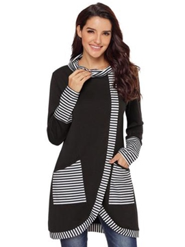 Ericdress Loose Casual Patchwork Stripe Cool Hoodie