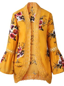 Ericdress Thin Floral Patchwork Lace Cape