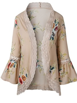 Ericdress Thin Lace Floral Patchwork Cape