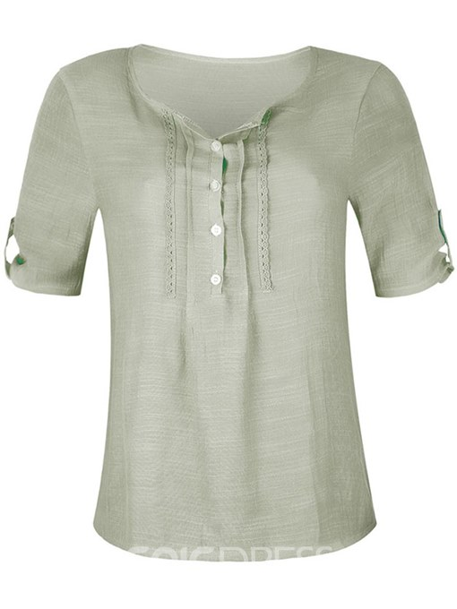 Ericdress Casual Loose Mid-Length Short Sleeve Blouse
