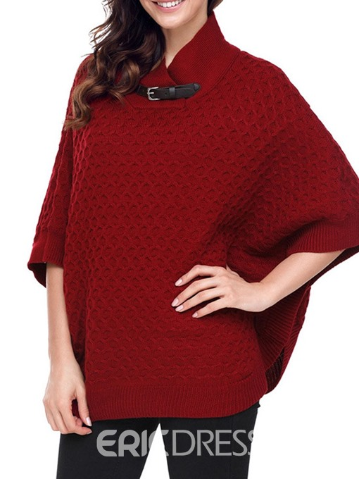 Ericdress Casual Loose Mid-Length Batwing Sleeve Knitwear