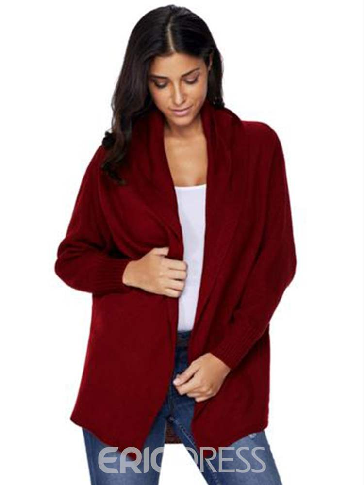 Ericdress Loose Plain Casual Mid-Length Cardigan