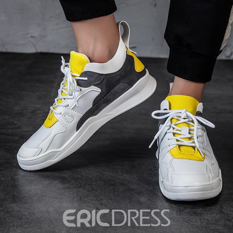 Ericdress Mesh Round Toe Lace-Up Low-Cut Men's Trainers