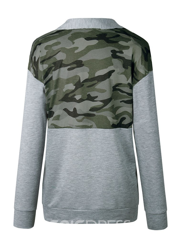 Ericdress Print Casual Camouflage Cool Hoodie