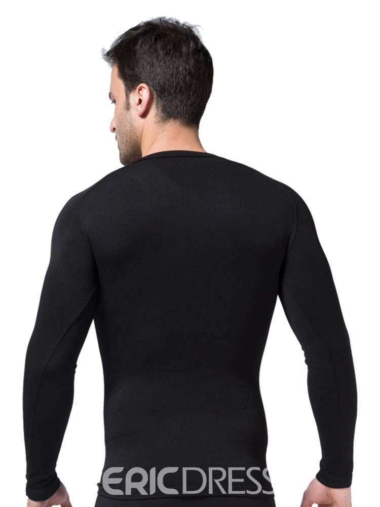 Ericdress Long Sleeve Tight Breathable Anti-Sweat Sports T-shirt for Men