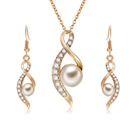 Ericdress Pearl Diamante Women Jewelry Set