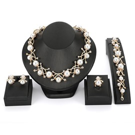 Ericdress Pearl Shining Cross Exquisite Jewelry Set