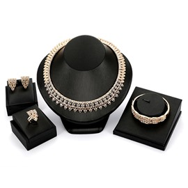 Ericdress Luxury Diamante Alloy Jewelry Set
