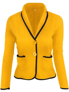Ericdress Single-Breasted Long Sleeve Standard Fall Casual Women's Blazer