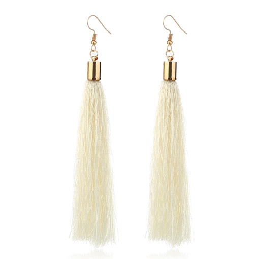 Eridress Long Tassel Drop Earrings