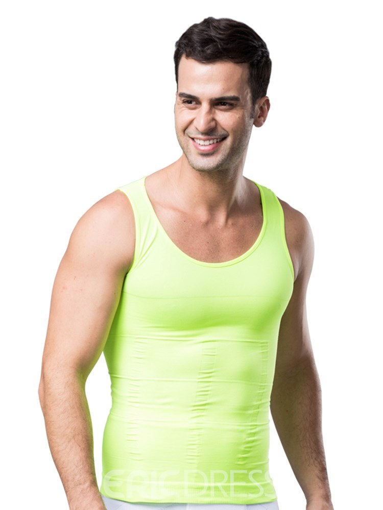 Ericdress Abdomen Tight Seamless Corset Vest Top for Men