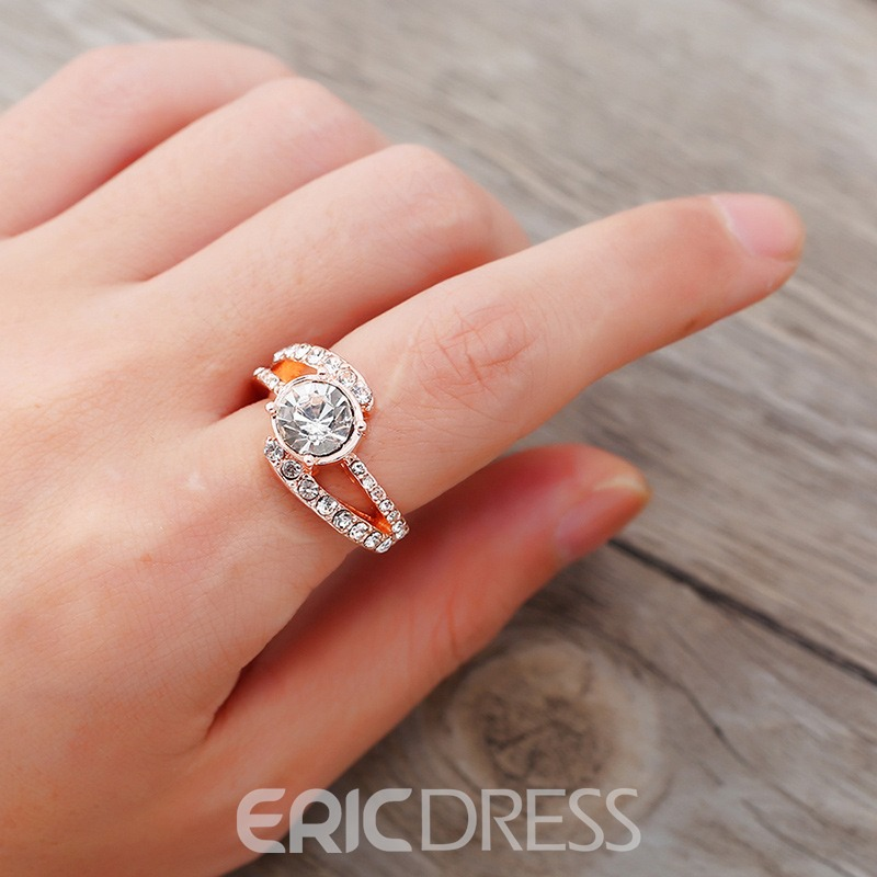 Ericdress Diamante Shining Wedding Ring