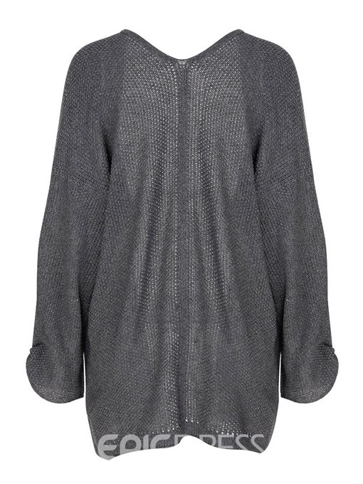 Ericdress Thin Plain Casual Mid-Length Cocoon Cardigan