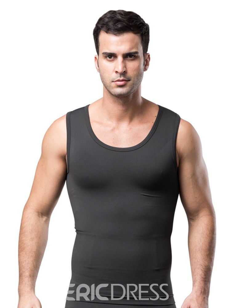Ericdress Anti-Sweat Breathable Body Shaping Sports Vest Top for Men