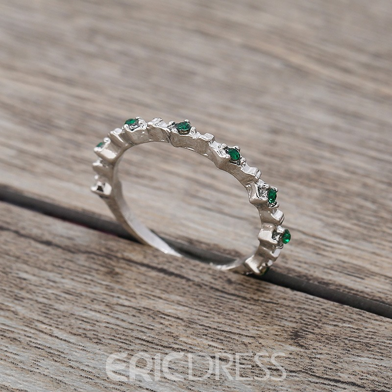 Ericdress Green Gems Ring