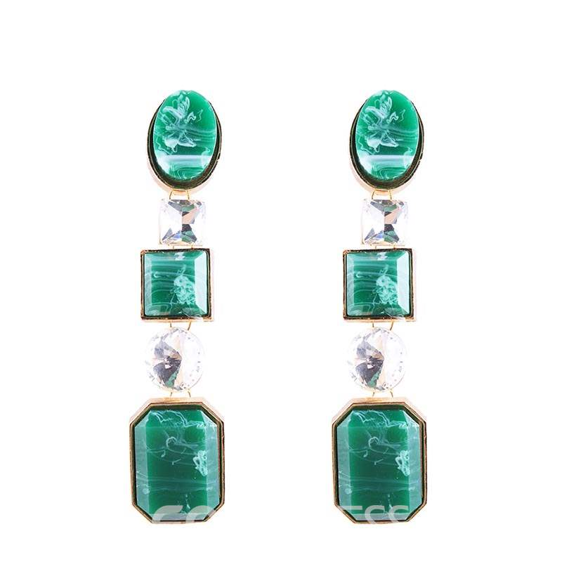 Ericdress Resin Color Drop Earrings