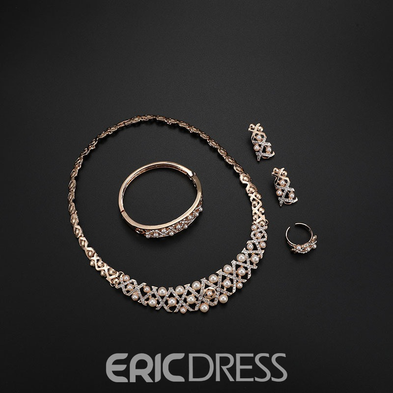 Ericdress Exquisite Hollowed-out Pearl Jewelry Set