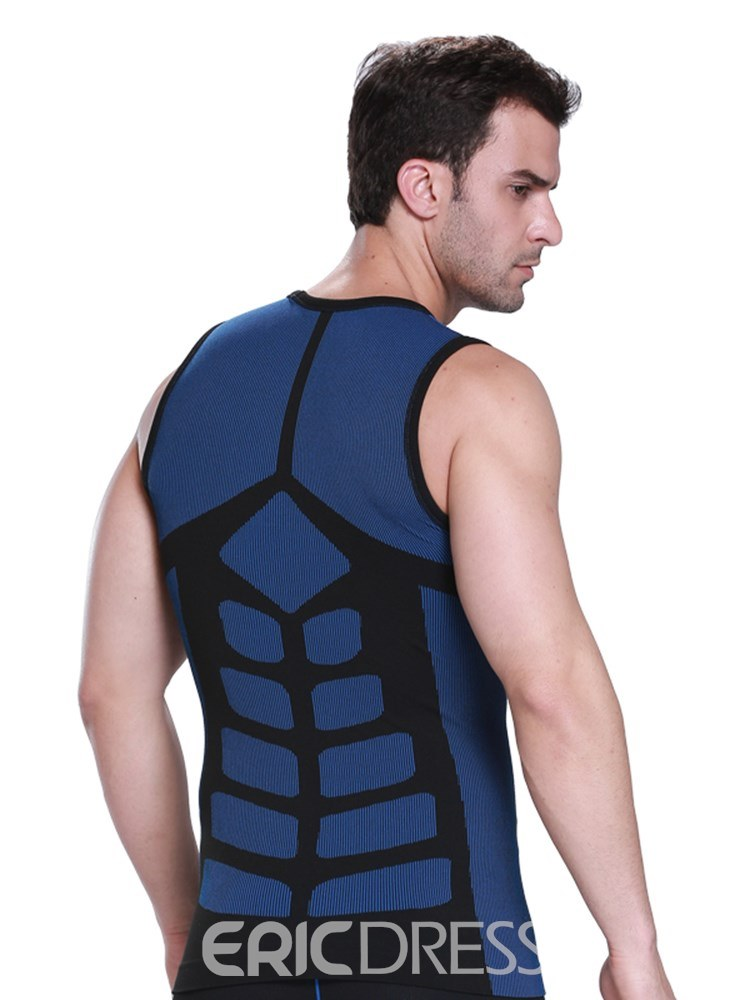 Ericdress Color Block Anti-Sweat Quick Dry Sports Vest Top for Men