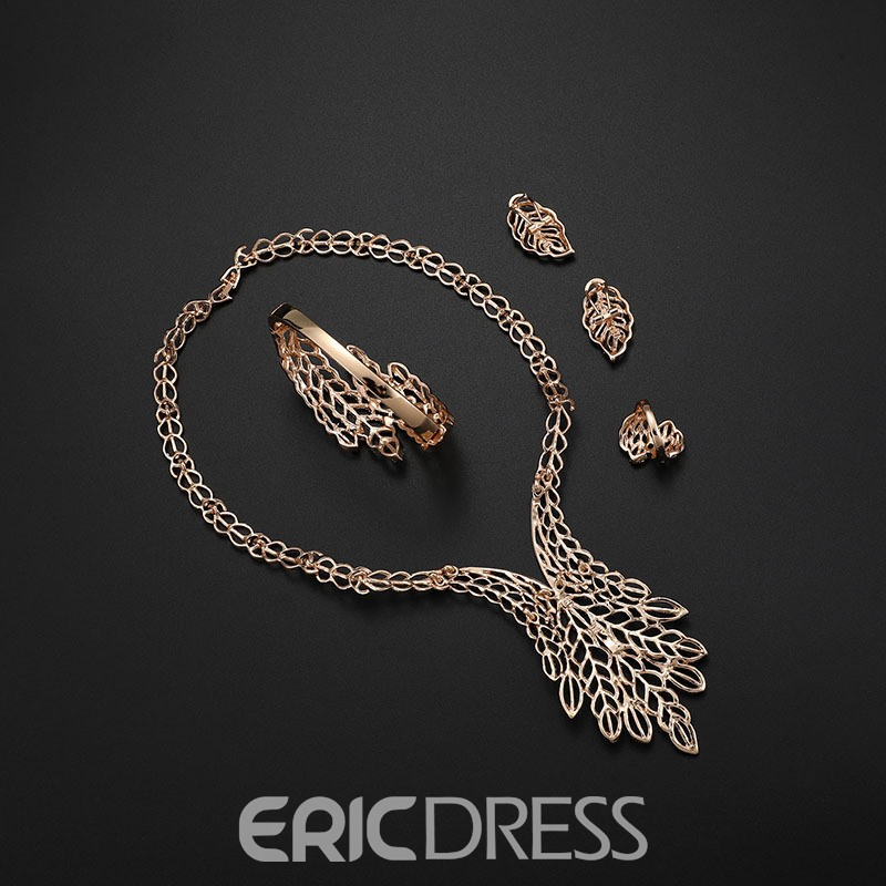 Ericdress Hollow out Leaves Alloy Jewelry Set