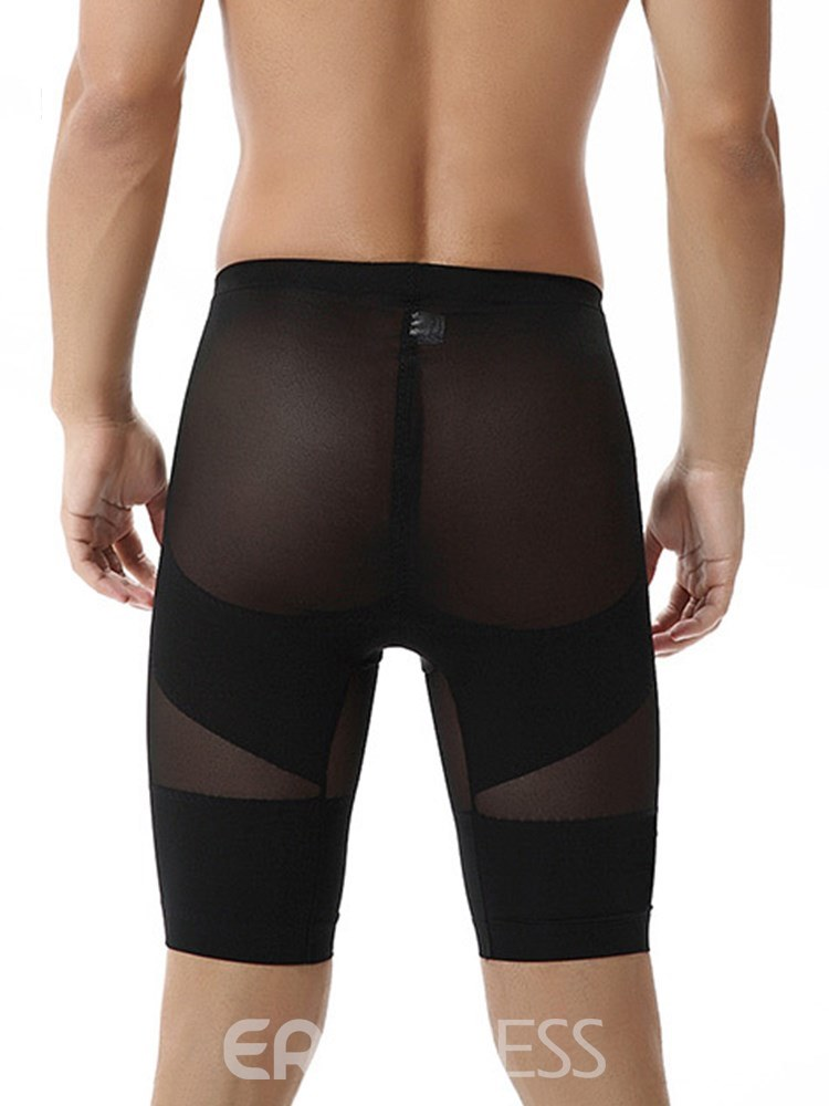 Ericdress Men's Breathable Body Shaping Knee Length Control Pant