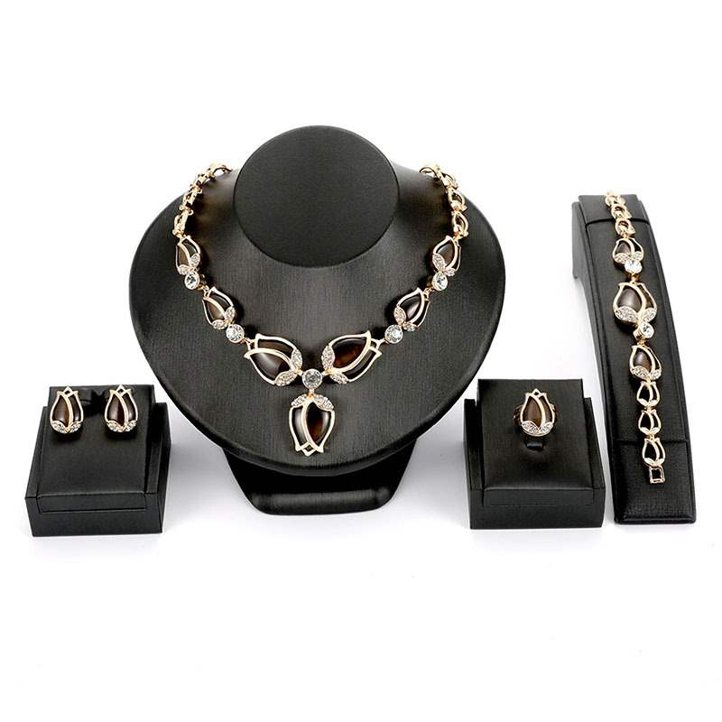 Ericdress Rose Diamante Jewelry Set