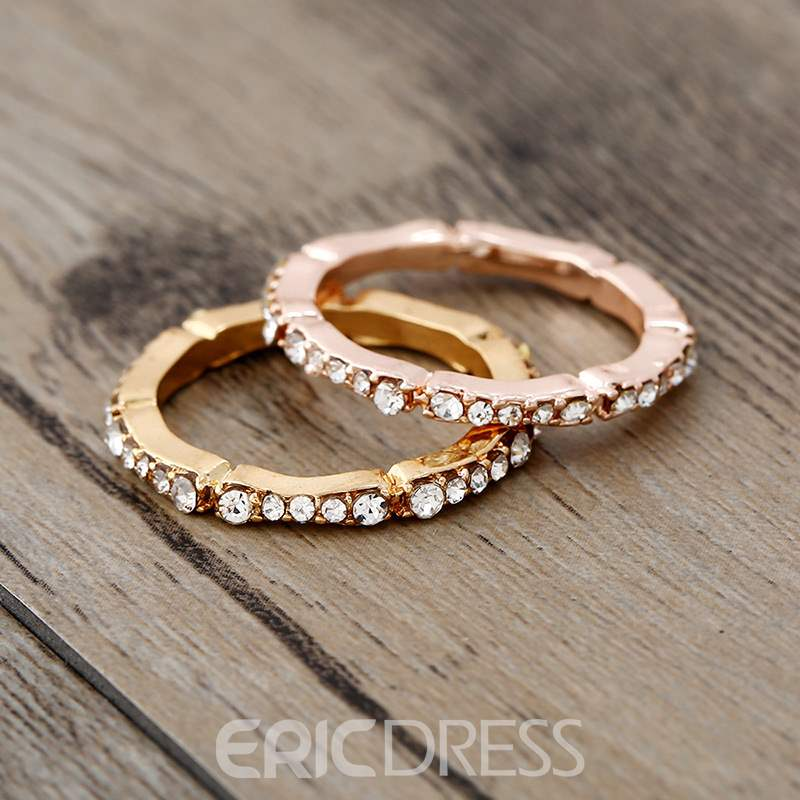 Ericdress Diamante Thin Ring