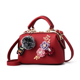 Ericdress Casual Floral Medium Handbag
