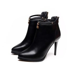Ericdress Back Zip Stiletto Heel Women's Ankle Boots