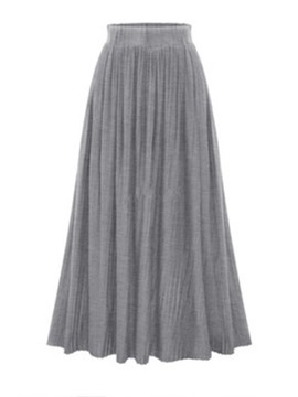 Ericdress Pleated Plain Ankle-Length Women's Skirt