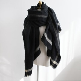 Ericdress Warm Winter Stripe Acrylic Scarf For Women