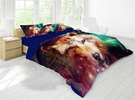 3D Wild Wolf Reactive Printing Cotton 4-Piece Bedding Sets/ Duvet Cover Sets 3D Wild Wolf Reactive Printing Cotton 4-Piece Bedding Sets/ Duvet Cover Sets