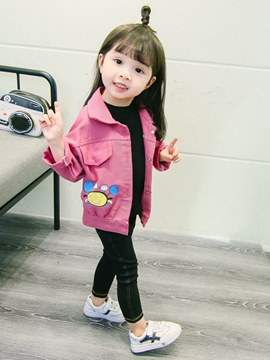 Ericdress Cartoon Printed Button Lovely Baby Girl's Jacket