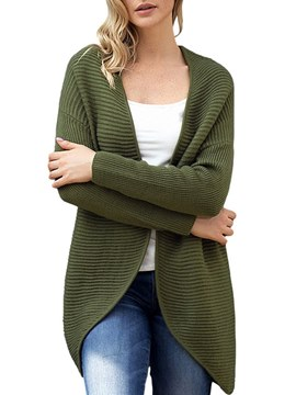 Ericdress Plain Loose Mid-Length Long Sleeves Cardigan