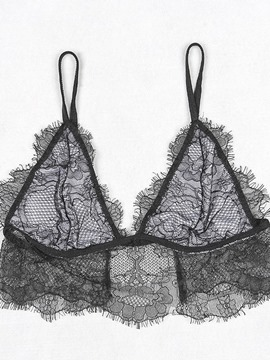 Ericdress Eyelash Hollow Lace Sexy Bra